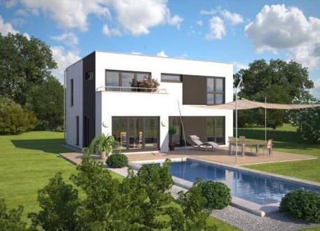 Einfamilienhaus ...individuell geplant ! - Markante Bauhausvilla - Wohnen in zeitloser Moderne - www.jk-traumhaus.de