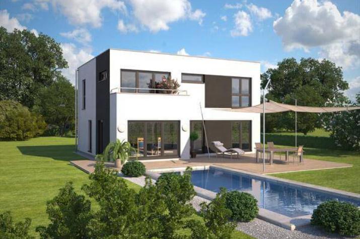 individuell geplant markante bauhausvilla wohnen in zeitloser moderne. Black Bedroom Furniture Sets. Home Design Ideas