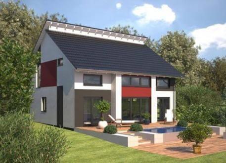 ...individuell geplant ! - Markantes Architektenhaus mit versetztem Pultdach - www.jk-traumhaus.de