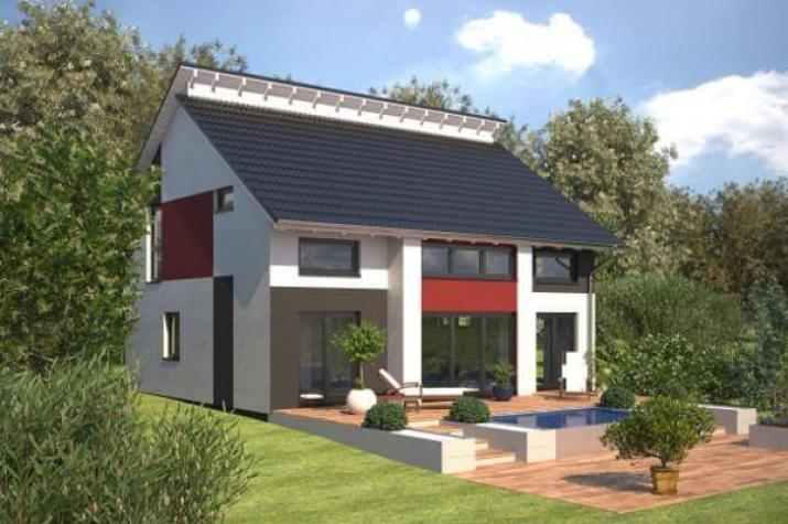 Individuell geplant markantes architektenhaus mit - Fertighaus architektenhaus ...