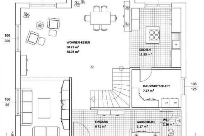 Individuell geplant markantes architektenhaus mit for Architektenhaus grundriss
