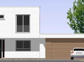 ...individuell geplant ! - Markantes kleines Bauhaus mit integrierter Doppelgarage - www.jk-traumhaus.de