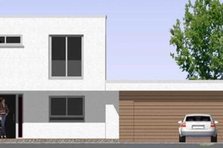Einfamilienhaus mit integrierter doppelgarage  ᐅ ...individuell geplant ! - Markantes kleines Bauhaus mit ...