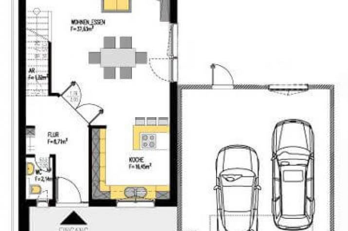 Individuell geplant markantes kleines bauhaus mit for Bauhaus einfamilienhaus grundriss
