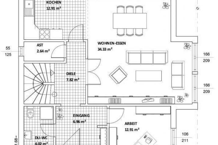 Individuell geplant mediterrane stadtvilla mit for Traumhaus grundriss
