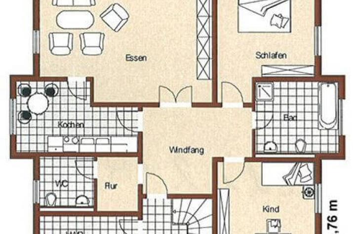 ...individuell geplant ! - Mediterranes Zweifamilienhaus mit Erkern - www.jk-traumhaus.de - grundriss eg