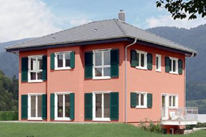 individuell geplant mediterranes zweifamilienhaus mit erkern. Black Bedroom Furniture Sets. Home Design Ideas