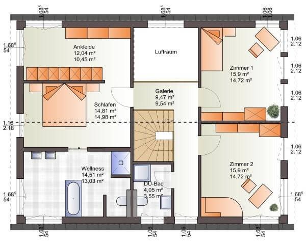 individuell geplant moderne architektur f r zwei. Black Bedroom Furniture Sets. Home Design Ideas