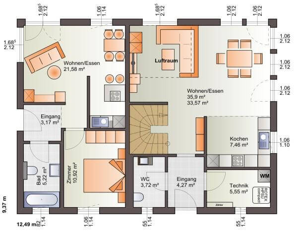 Individuell geplant moderne architektur f r zwei for Zweifamilienhaus planen