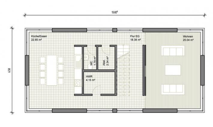 Individuell geplant modernes einfamilienhaus mit for Grundriss efh modern