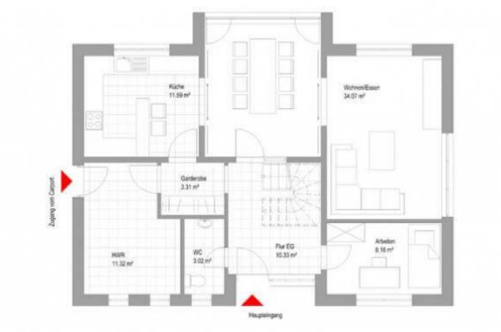 individuell geplant modernes einfamilienhaus mit interessantem erker. Black Bedroom Furniture Sets. Home Design Ideas