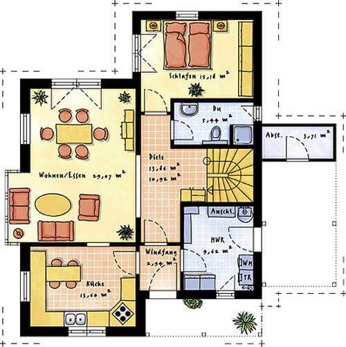 Individuell geplant modernes pultdachhaus mit for Pultdachhaus grundriss