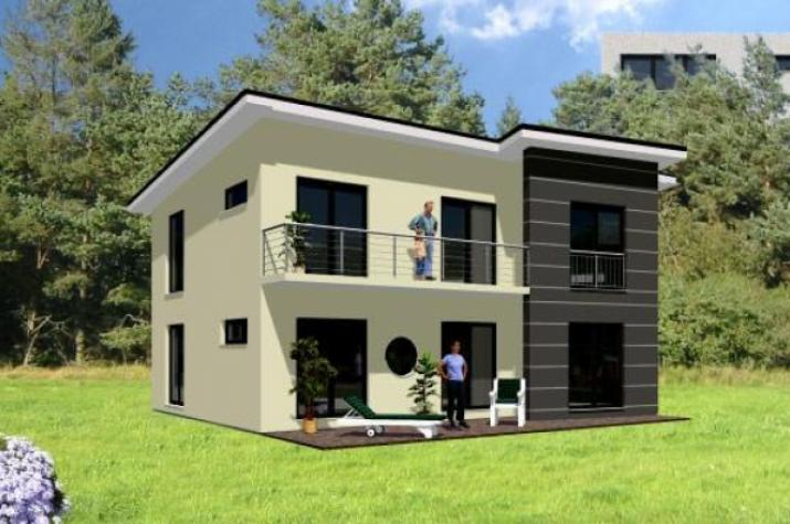 Individuell geplant modernes pultdachhaus mit for Modernes traumhaus