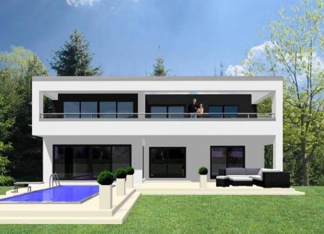 Sonstige Häuser ...individuell geplant ! - Repräsentativer Kubus mit Weitsicht - www.jk-traumhaus.de