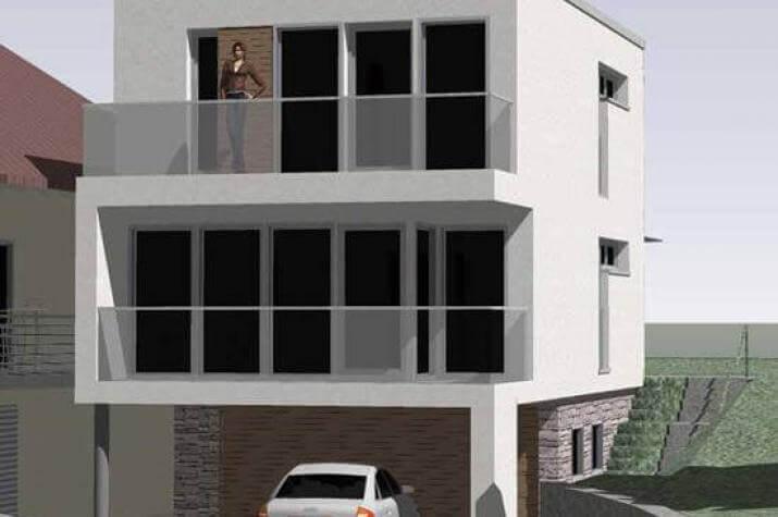 ...individuell geplant ! - Schmales Stadthaus im Bauhausstil - www.jk-traumhaus.de -