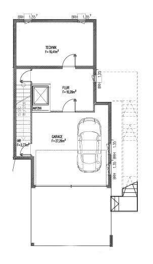 individuell geplant schmales stadthaus im bauhausstil jk traumhaus. Black Bedroom Furniture Sets. Home Design Ideas