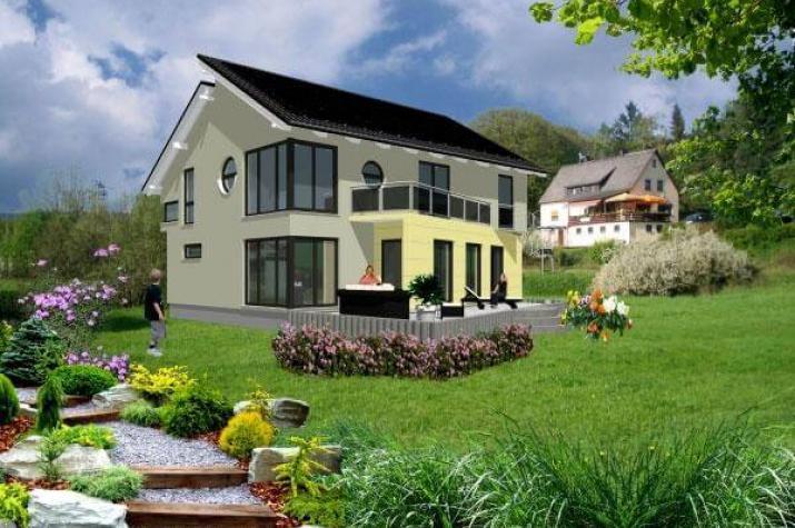 individuell geplant schr ge architektur unter versetztem pultdach. Black Bedroom Furniture Sets. Home Design Ideas