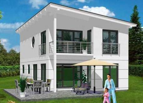 ...individuell geplant ! - Schräge Pultdachvilla mit modernem Ambiente - www.jk-traumhaus.de