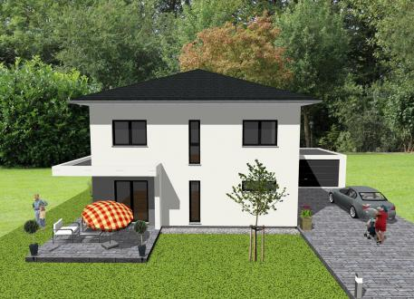 ...individuell geplant ! - Stadtvilla in modernem Ambiente - www.jk-traumhaus.de