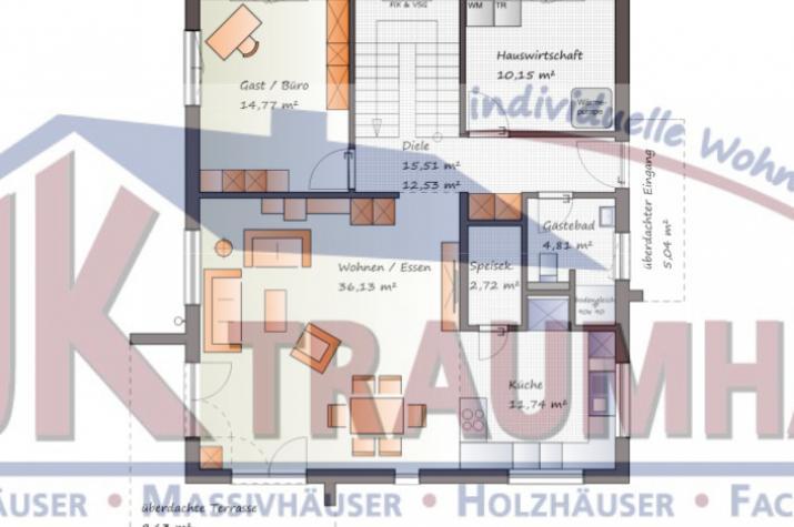 individuell geplant designer stadtvilla jk traumhaus. Black Bedroom Furniture Sets. Home Design Ideas