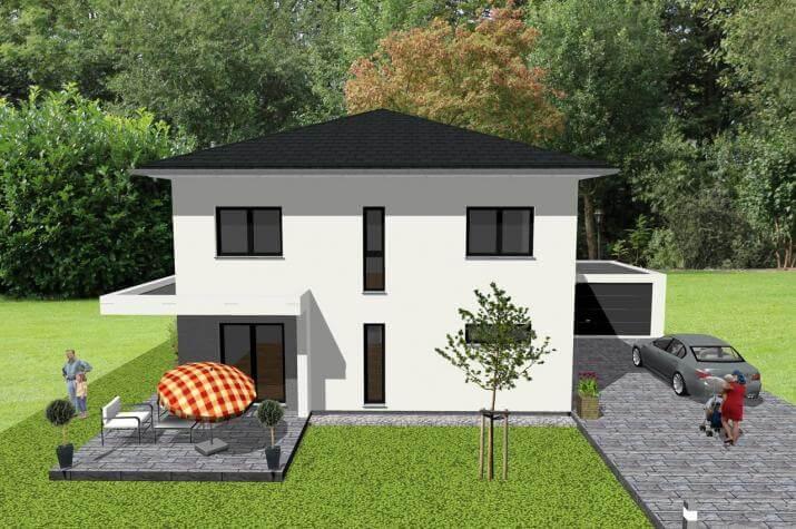 ...individuell geplant ! - Stadtvilla in modernem Ambiente - www.jk-traumhaus.de -