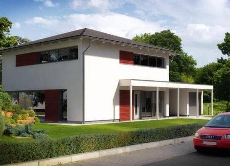 Designerhaus ...individuell geplant ! - Stadtvilla in moderner Architektur mit großen Fensterflächen- www.jk-traumhaus.de