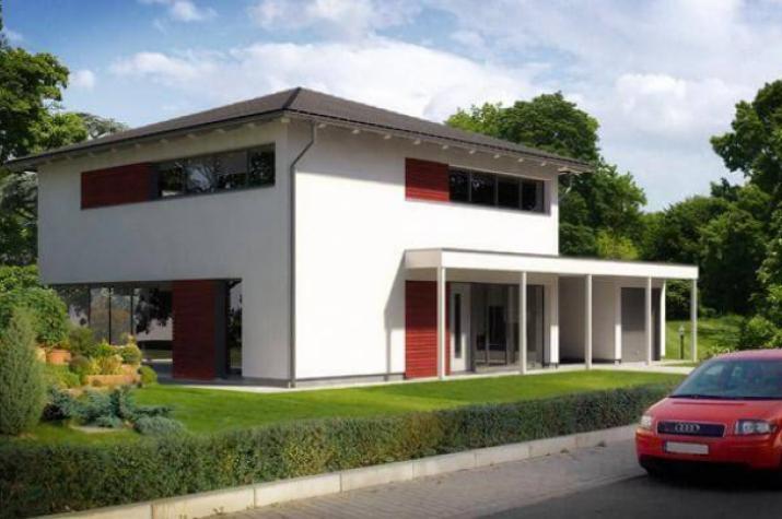 ...individuell geplant ! - Stadtvilla in moderner Architektur mit großen Fensterflächen- www.jk-traumhaus.de -
