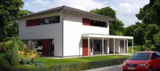 Stadtvilla in moderner architektur mit gro en fensterfl chen for Moderner baustil