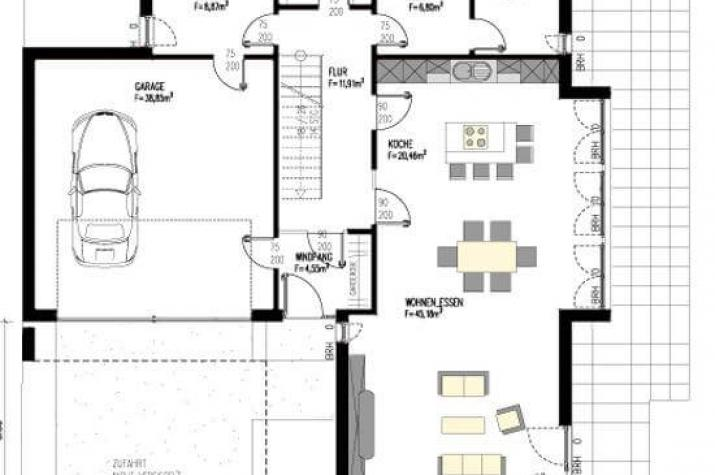 unendlich viel platz mit bauhausambiente. Black Bedroom Furniture Sets. Home Design Ideas