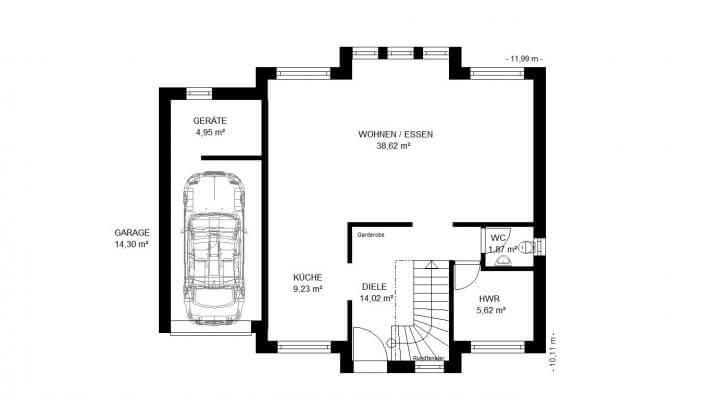 Stadtvilla mit integrierter garage  ᐅ Wandelbare Stadtvilla mit integrierter Garage