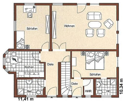 Zweifamilienhaus auch mit gewerbeeinheit m glich jk for Zweifamilienhaus grundriss