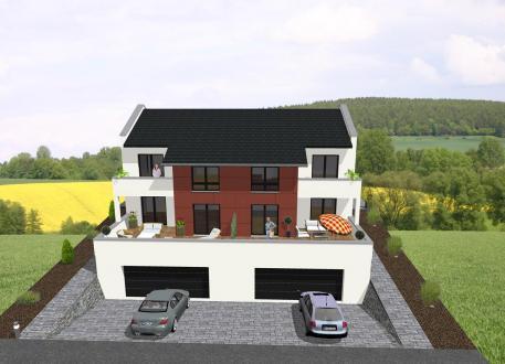Zweifamilienhaus ...individuell geplant ! -Doppelhaus, ideal für Hanglage - www.jk-traumhaus.de