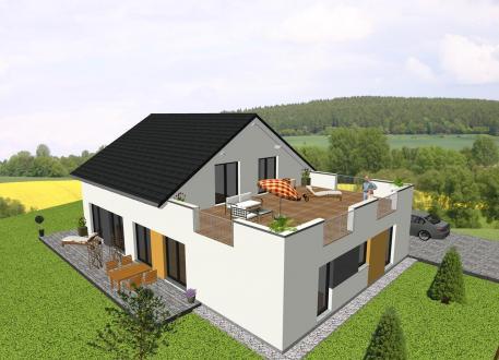 Zweifamilienhaus ...individuell geplant ! -Generationshaus mit Dachterrasse - www.jk-traumhaus.de