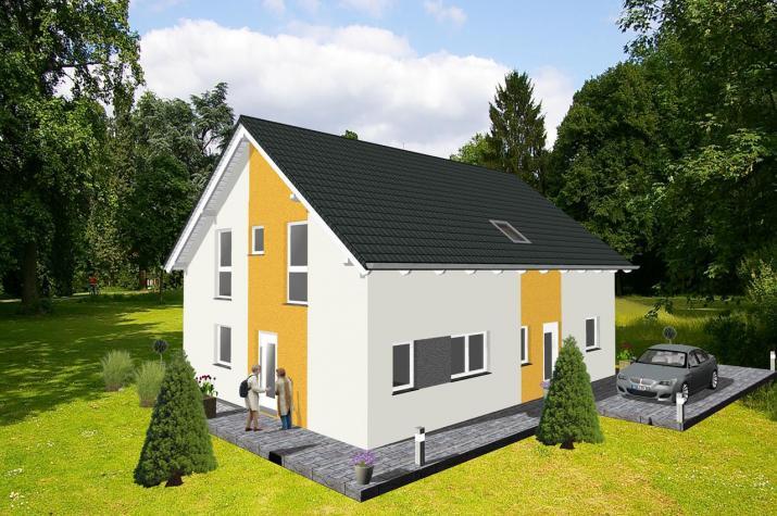 ...individuell geplant ! Klassische Architektur für zwei  - www.jk-traumhaus.de -